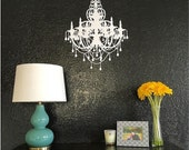 Chandelier French Paris Wall Art Vinyl Letters Decals