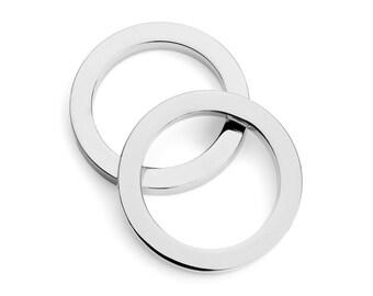 "30pcs - 1 1/2"" (38mm) Flat Zinc O-Ring - Nickel - (FOR-116) - Free Shipping"