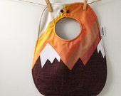 Mountain Baby Gift - Baby Bib with Snaps