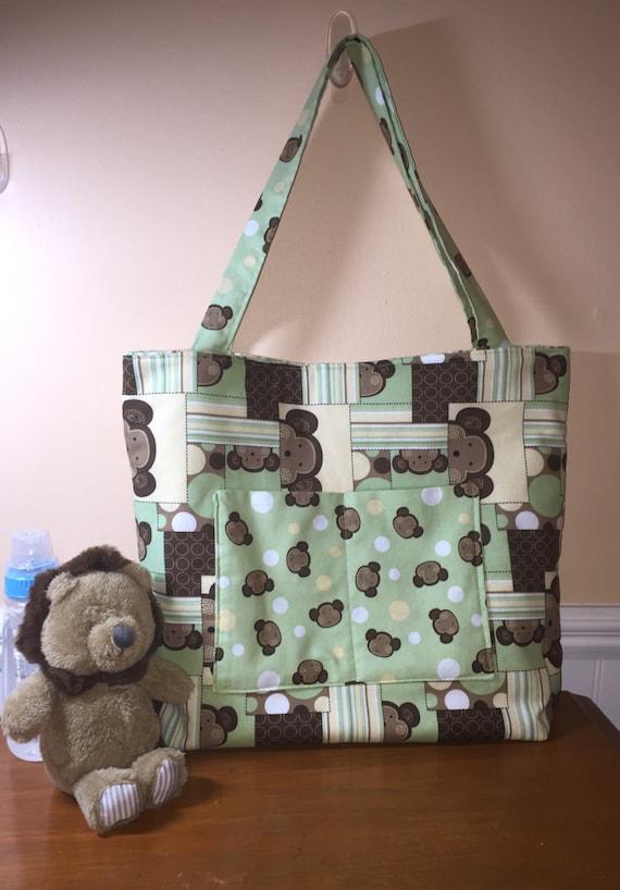 Handmade Diaper Bags : Handmade diaper tote bag girls disper boys