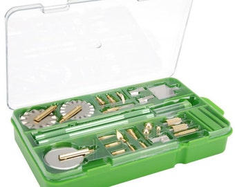 Makin's PROFESSIONAL CLAY TOOLS Set 27 Pieces with Plastic Storage Tool Box includes many tools