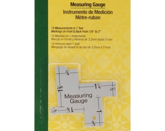 Measuring Gauge, by Dritz Quilting