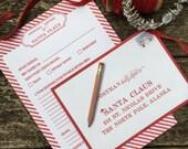 Santa Letter Kit - Letterpress