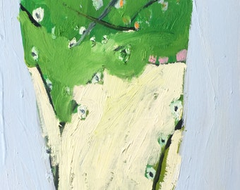Abstract  Spring Terrarium, Original oil paintings on arches paper