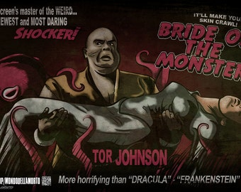 Ed Wood's Bride of the Monster 11x17 Poster Print