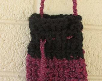 burgundy hippie purse