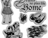 There's No Place Like Home Graphic 45 Cling Stamp Set of 6