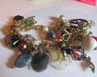 charm bracelet (pinks)
