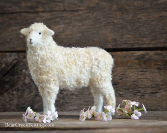 Needle Felted Sheep | Corriedale | Wool Sheep Sculpture