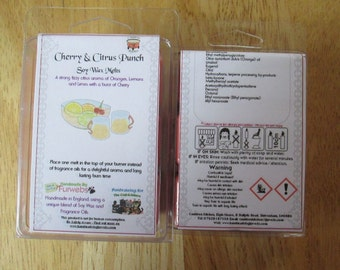 Cherry & Citrus Punch Scented Soy Wax Melts Pack