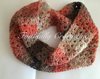 Crocheted cowl... Neck warmer.. Ready to ship... Ooak