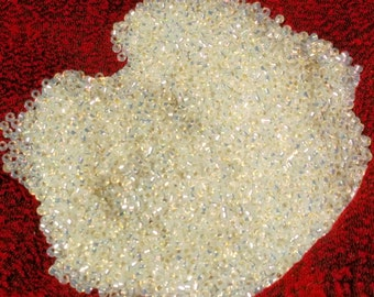 15/0 Gilt lined White Opal Miyuki seed bead, 10 gram bag, 15-551 (Like DB 221)