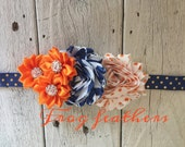 Denver Broncos NFL Diy HEADBAND KIT-Make it yourself and save big bucks.  Easy!