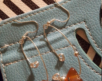 Unique agate silver  earrings