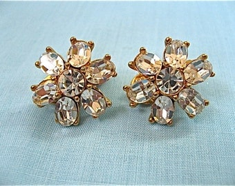 Vintage Monet Crystal Earrings