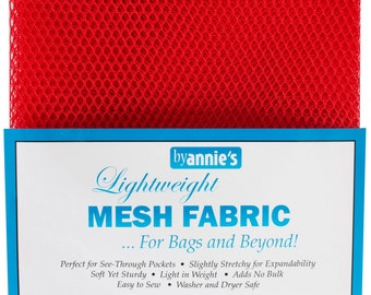 Mesh fabric Light LiteWeight--18 inch x 54 inch Pocket Mesh Scarlet Crimson RED