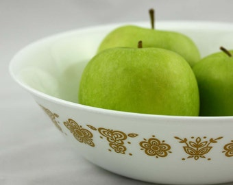 Corelle Butterfly Gold Serving Bowl by Corning - Pyrex Compatibles