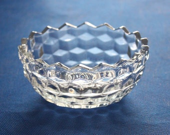 Clear Pressed Glass Bowl