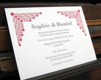 Letterpress Wedding Stationery Sample Pack - Longford