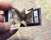 """Miniature book, replica """"maps of the ancient world"""" 1 inch high pop out maps"""