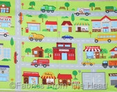 "Connector City Roads Playmats Trucks 23""x44"" inch Panel Northcott Cotton Fabric"