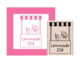 Lemonade Stand Rubber Stamp