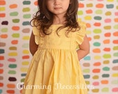 Easter Dress Toddler, Girls Dresses, Toddler Girl Clothes, Spring Easter Girls Heirloom Flutter Sleeve Dress, You Choose from 14 Colors