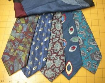 FREE SHIP Neck Tie, Pocket Square Lot - silk - Ashear, Lapidus, Gant, Dior, Axis, Countess Mara - BearlyArtDesigns