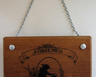 Flower and Herb Press Vintage Wooden Press