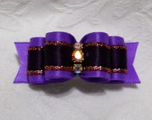 "DOG BOW-  5/8"" Sweet Plum"