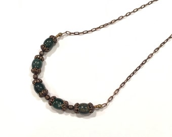 Forest Green Vintage Styled Necklace