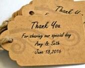 Thank You Tags - Wedding Favor Tag - Wedding Thank You - Personalized Thank You Tags - Thank You Tag Wedding - Wedding Favor Tags