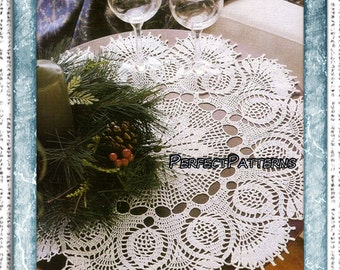 Crochet pattern for lace doily Ilona PDF instant download