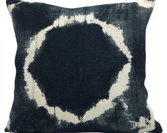 Vintage African Black Mudcloth Pillow | CAPTAIN 18x18