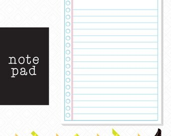 Note pad, Lined Paper Note Pad
