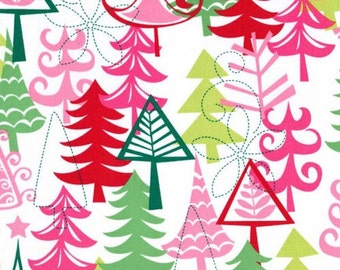 FAT QUARTER- Yule Tree Santa Christmas Fabric Michael Miller CX3637-Santa