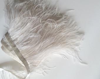 VOGUE OSTRICH Feather Fringe , True Ivory  / 390