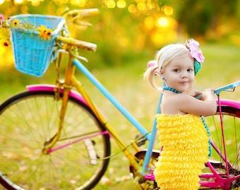 Lace Petti Romper by Dreamspun - Sunshine Yellow