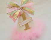 NEW Glitter White, Gold, Pink, and Mint Party Hat - Chevron, Arrows, Polka Dot, Princess, Glam, Winter Wonderland, Frozen, Tinsel, Fairy