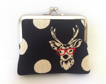 Glasses deer coin purse