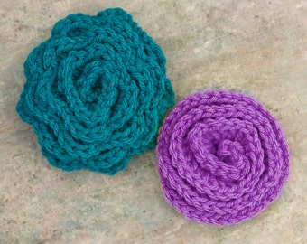 Two Rose  Crochet Patterns, Instant Download, Flower Crochet Pattern, Crochet Flower PDF Patterns, Do It Yourself