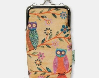 Owl Phone Case, Owl Purse with Chain