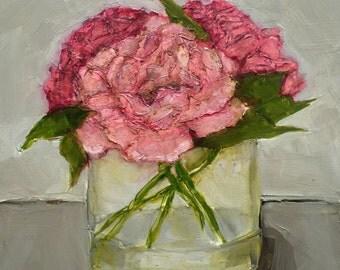 PEONY PEONIES Floral Flowers Still Life Colette W. Davis Art Giclee print