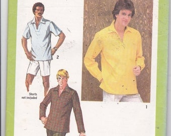 OOP New Vintage 1979 Simplicity pattern 9093 Mens' Pullover Top size 40