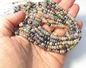 Mystic Rondelle Beads, Rainbow 5mm Peridot Citrine Ruby Amethyst Spinel Carnelian Tourmaline Quartz Labradorite