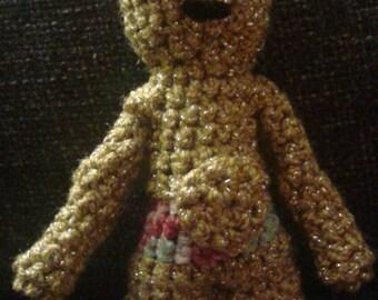 C3PO Crocheted Figurine