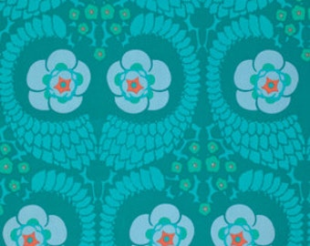 French Twist in Ocean cotton sateen by Amy Butler Violette Collection
