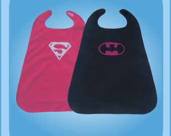Superwoman Batwoman Reversible Superhero Cape Costume
