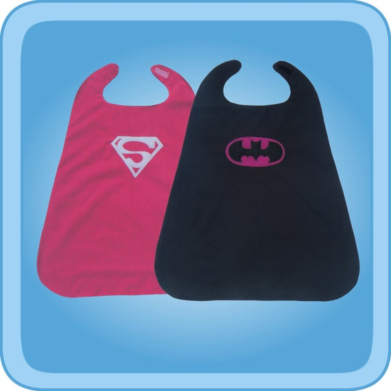 Superwoman Batwoman Reversible Superhero Cape Costume