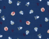 Blue Owl Print 100% Cotton Quilting Fabric
